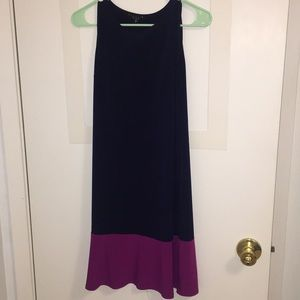 Sleeveless multi color dress
